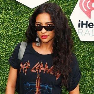 Shay Mitchell Black Outfit Coachella 2018