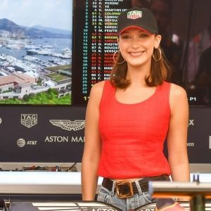 Bella Hadid Formula 1 Grand Prix Monaco Red Top Ripped Jeans