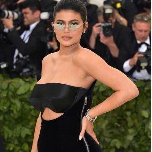 Kylie Jenner Black Alexander Wang Gown Met Gala 2018