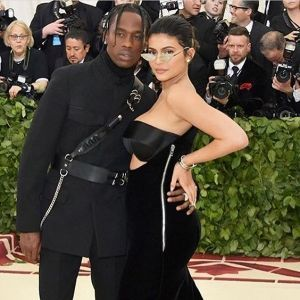 Kylie Jenner figure hugging Alexander Wang gown Met Gala 2018 May 2018