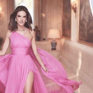 Cannes 2018 Alessandra Ambrosio Pink Dress Tommy Hilfiger Gown AmfAR Gala