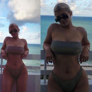 Kylie Jenner Sexy Bikini Miami 2018