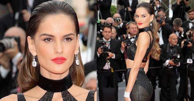Cannes 2018 Izabel Goulart Dress Black Cutout Bralette Skirt Red Carpet
