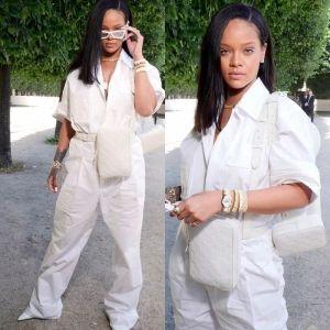 Rihanna Louis Vuitton Bags During Paris Spring Summer 2019 Fashion Show Mens