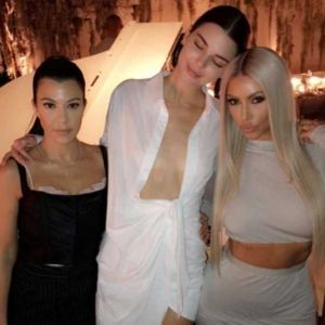 Kendall Jenner White Knotted Shirt-Dress Birthday Party Kanye West