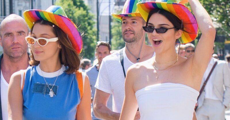 Kendall Jenner Bella Hadid London Pride Parade