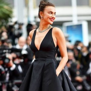 Irina Shayk Black Dress Cannes 2018 Red Carpet